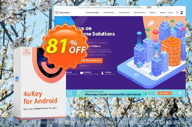 Tenorshare 4uKey for Android - (11-15 Devices) discount 88% OFF, 2019 Halloween offering sales