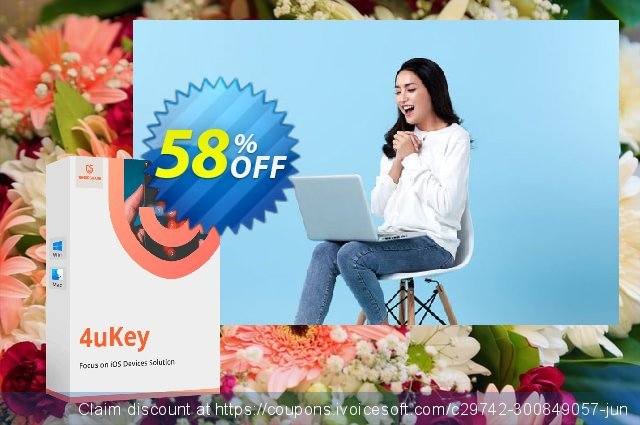 Tenorshare 4uKey (1 Month License) discount 58% OFF, 2020 Teacher deals discounts