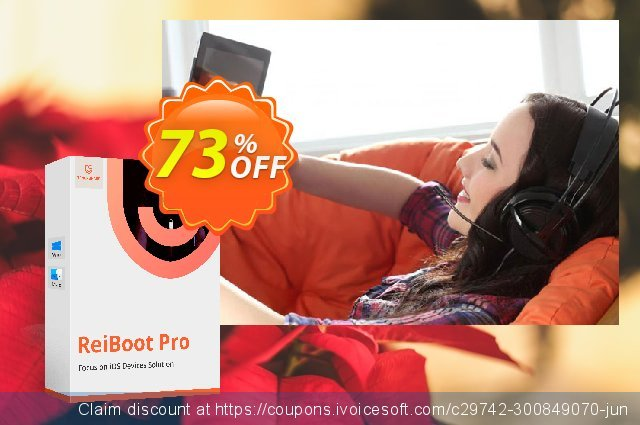Tenorshare ReiBoot for Mac (1 Month License) discount 75% OFF, 2020 Back to School coupons offering sales