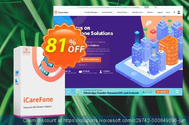 Tenorshare iCareFone for Mac (6-10 Macs) 激动的 折扣码 软件截图