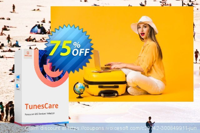 Tenorshare TunesCare Pro for Mac (2-5 Macs) discount 75% OFF, 2020 Back to School season offering sales
