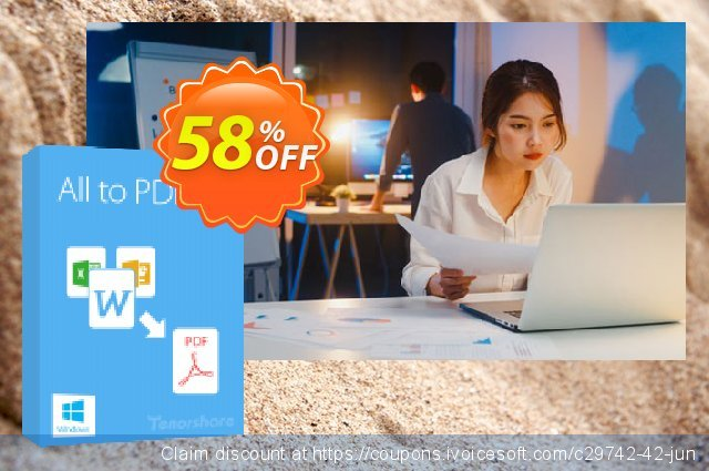 Tenorshare All to PDF discount 58% OFF, 2020 Halloween offering sales