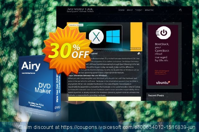 Airy DVD Maker discount 30% OFF, 2021 New Year's Day offering sales