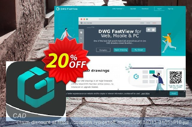 DWG FastView Monthly Subscription discount 20% OFF, 2021 Happy New Year offering sales