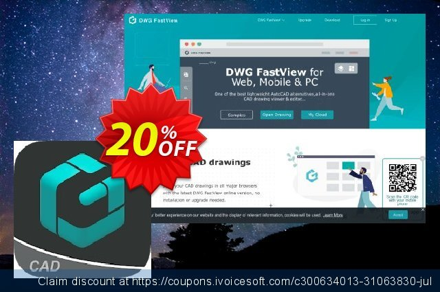 DWG FastView Annual Subscription discount 20% OFF, 2021 New Year's Day offering sales