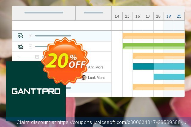 GanttPRO License discount 20% OFF, 2021 Happy New Year offering sales