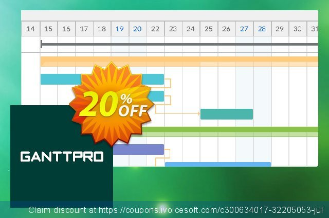 GanttPRO License Local discount 20% OFF, 2021 New Year's Day offering sales