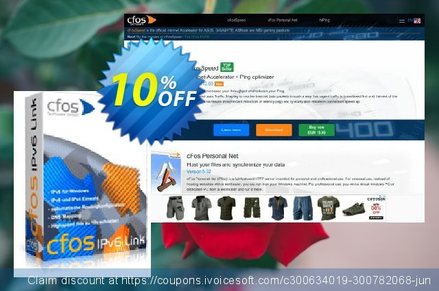 cFos Broadband Connect discount 10% OFF, 2021 Mother Day offering discount. 10% OFF cFos Broadband Connect, verified