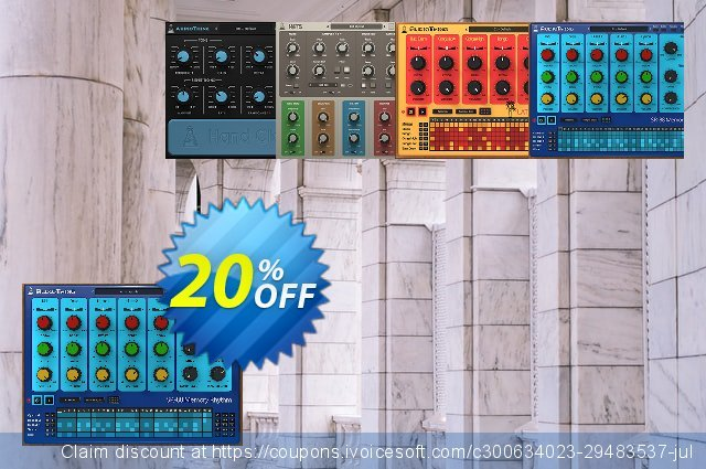 AudioThing Drum Machine Bundle discount 20% OFF, 2021 Easter day offering sales