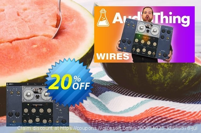 AudioThing Wires discount 20% OFF, 2021 Resurrection Sunday offering sales