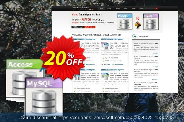 Viobo Access to MySQL Data Migrator Business discount 20% OFF, 2021 World Day of Music offering sales. Viobo Access to MySQL Data Migrator Bus. Amazing promo code 2021