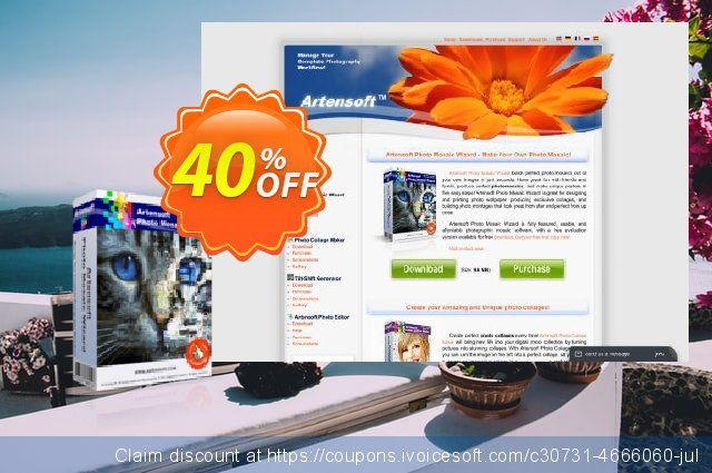 Artensoft Photo Mosaic Wizard - Service License  신기한   제공  스크린 샷