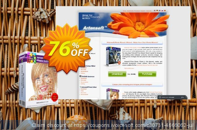 Artensoft Photo Collage Maker - Business License 壮丽的 产品销售 软件截图
