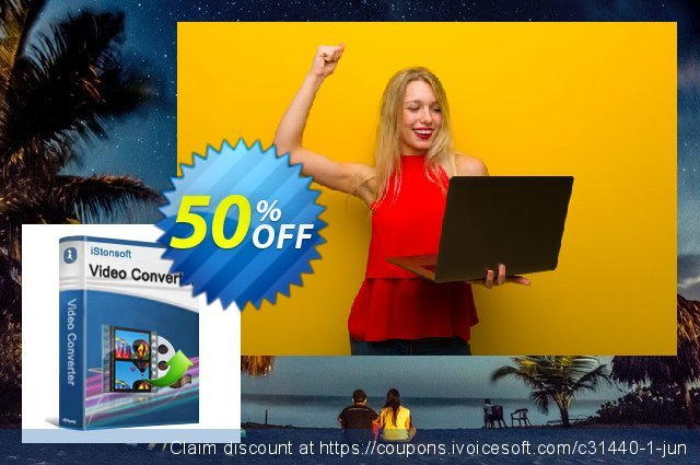 iStonsoft Video Converter discount 50% OFF, 2019 College Student deals offering sales
