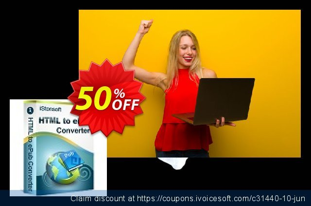 iStonsoft HTML to ePub Converter discount 50% OFF, 2019 Halloween offering sales