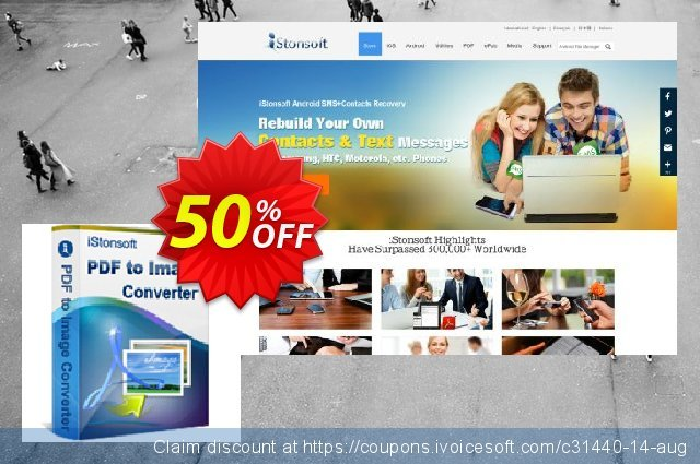 iStonsoft PDF to Image Converter discount 50% OFF, 2020 Back to School coupons offering sales