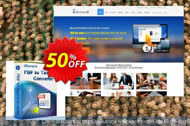 iStonsoft PDF to Text Converter discount 50% OFF, 2020 Spring promo