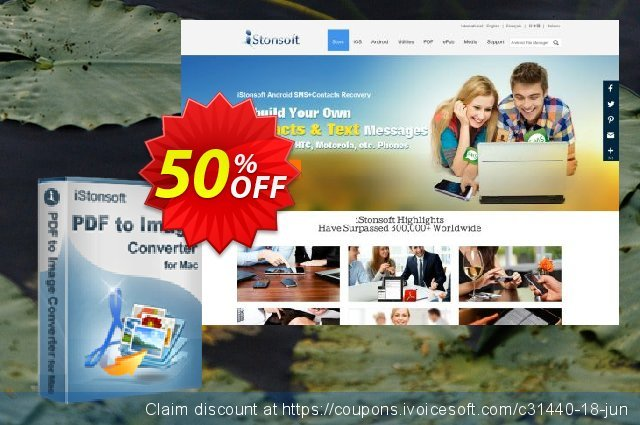 iStonsoft PDF to Image Converter for Mac discount 50% OFF, 2020 Exclusive Student discount promotions