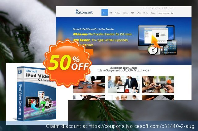 iStonsoft iPod Video Converter discount 50% OFF, 2020 April Fools' Day offering sales