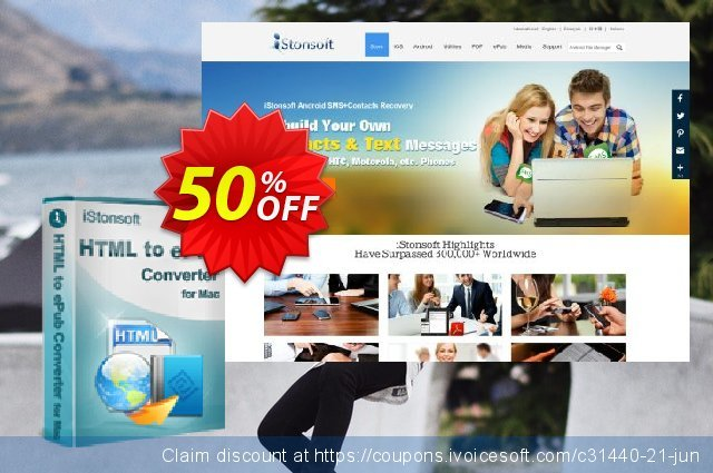 iStonsoft HTML to ePub Converter for Mac discount 50% OFF, 2020 Halloween offering discount