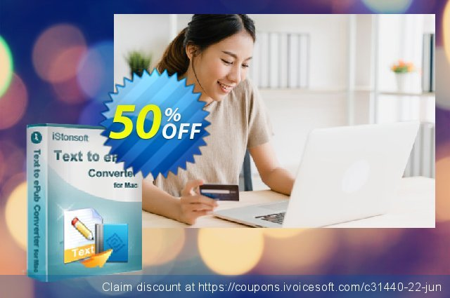 iStonsoft Text to ePub Converter for Mac discount 50% OFF, 2020 Halloween offering sales