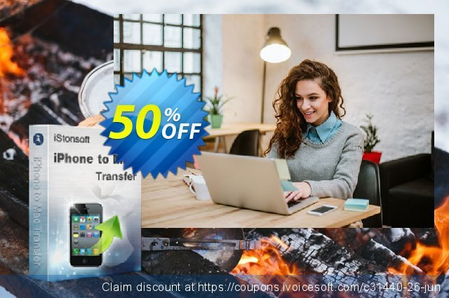 iStonsoft iPhone to Mac Transfer discount 50% OFF, 2019 College Student deals promo sales