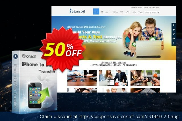 iStonsoft iPhone to Mac Transfer discount 50% OFF, 2019 Halloween offering sales