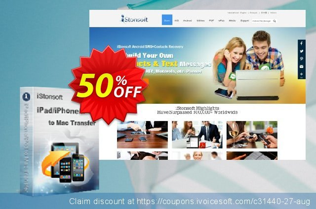 iStonsoft iPad/iPhone/iPod to Mac Transfer discount 50% OFF, 2019 Back to School Promos promo