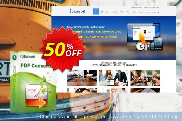 iStonsoft PDF Converter discount 50% OFF, 2019 Back to School promotion offering sales