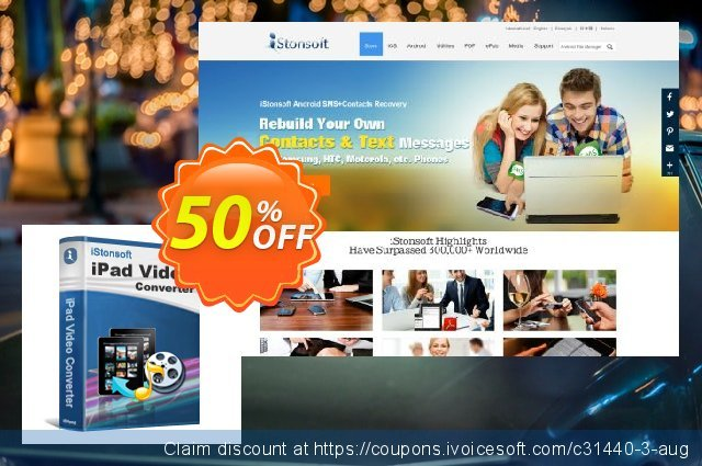 iStonsoft iPad Video Converter discount 50% OFF, 2020 Happy New Year offering sales