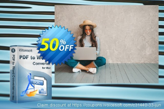 iStonsoft PDF to Word Converter for Mac discount 50% OFF, 2020 January promo sales