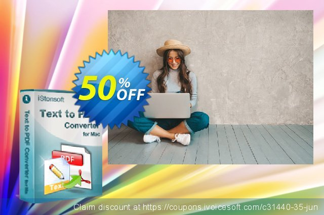 iStonsoft Text to PDF Converter for Mac discount 50% OFF, 2019 Xmas Day deals
