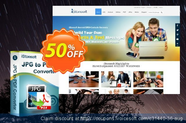 iStonsoft JPG to PDF Converter discount 50% OFF, 2020 Halloween sales