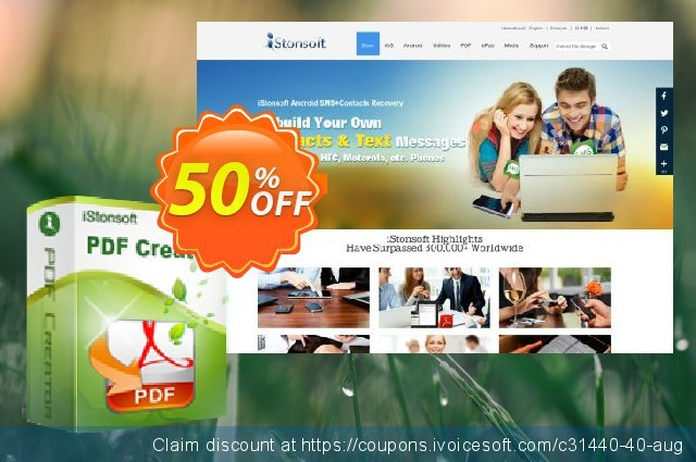 iStonsoft PDF Creator discount 50% OFF, 2019 Xmas offering deals