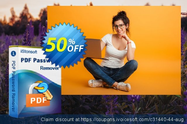 iStonsoft PDF Password Remover discount 50% OFF, 2020 Library Lovers Month sales