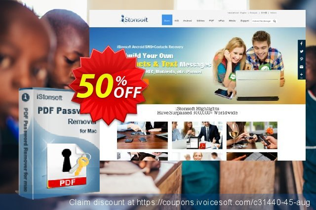 iStonsoft PDF Password Remover for Mac discount 50% OFF, 2020 Halloween offering sales