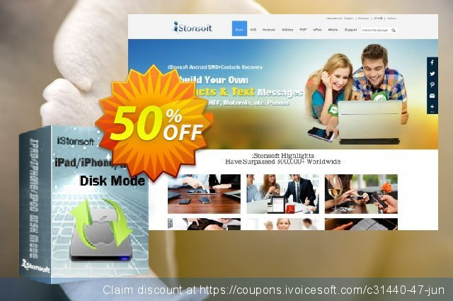 iStonsoft iPad/iPhone/iPod Disk Mode for Mac discount 50% OFF, 2020 Halloween offering sales
