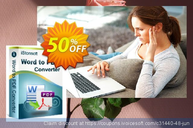 iStonsoft Word to PDF Converter discount 50% OFF, 2019 Christmas offering sales
