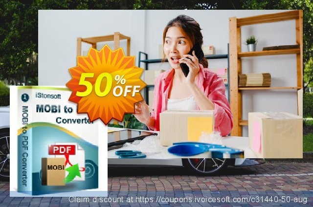 iStonsoft MOBI to PDF Converter discount 50% OFF, 2019 Back to School promo offering sales