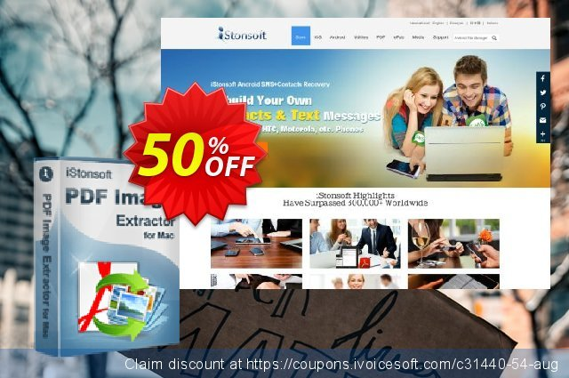 iStonsoft PDF Image Extractor for Mac discount 50% OFF, 2019 Back to School shopping offering sales