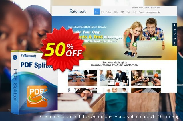 iStonsoft PDF Splitter discount 50% OFF, 2019 Black Friday deals