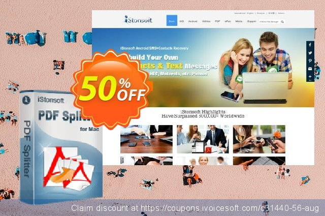 iStonsoft PDF Splitter for Mac discount 50% OFF, 2020 Back to School coupons promotions