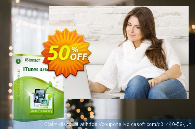 iStonsoft iTunes Data Recovery discount 50% OFF, 2019 Student deals offer