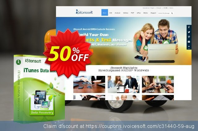 iStonsoft iTunes Data Recovery discount 50% OFF, 2019 Christmas & New Year offering deals