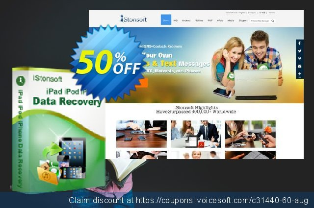 iStonsoft iPad/iPhone/iPod Data Recovery discount 50% OFF, 2020 Happy New Year offering sales