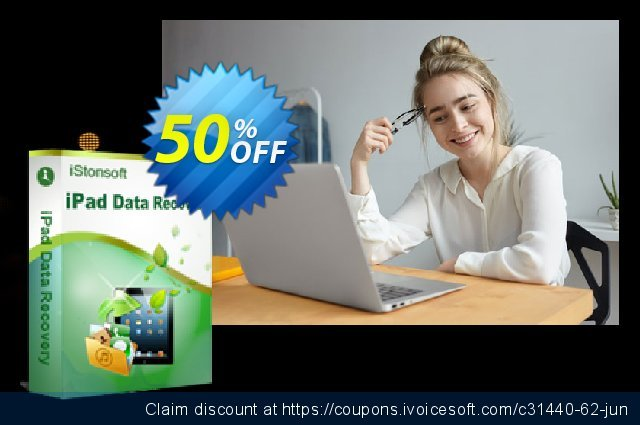 iStonsoft iPad Data Recovery discount 50% OFF, 2019 University Student offer offering sales