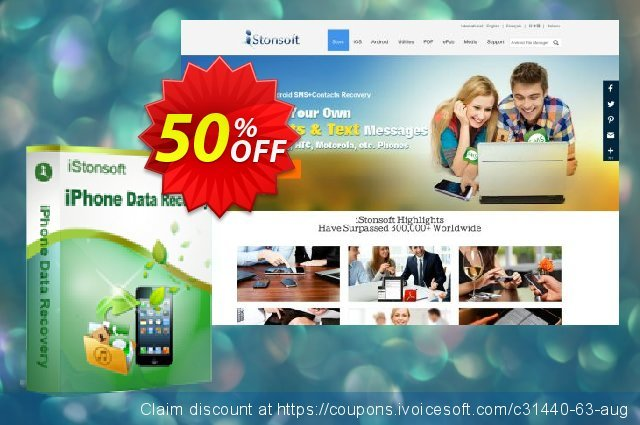 iStonsoft iPhone Data Recovery discount 50% OFF, 2020 New Year's Weekend promotions