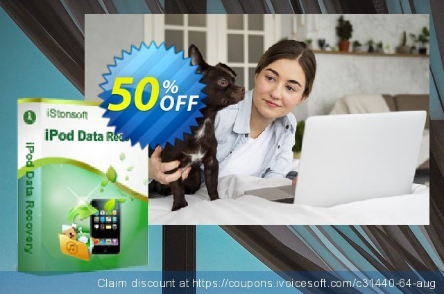 iStonsoft iPod Data Recovery discount 50% OFF, 2020 Teacher deals promo sales