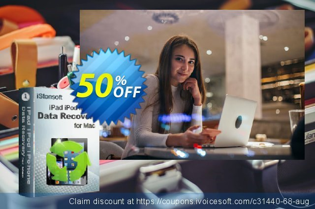 iStonsoft iPad/iPod/iPhone Data Recovery for Mac discount 50% OFF, 2020 Halloween offering sales