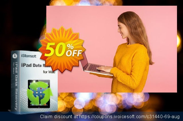 iStonsoft iPad Data Recovery for Mac discount 50% OFF, 2019 Back to School Promos offering sales